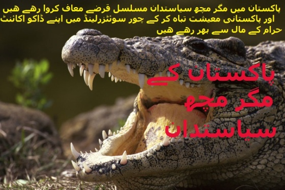 Widget_GHADDARS_Crocodile Politicians of Pakistan get Billion Dollar Debt Amnesty