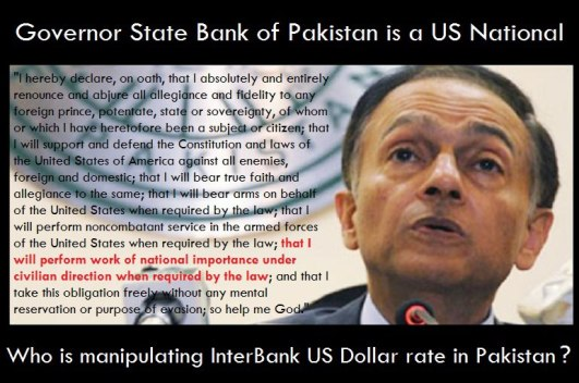 GHADDARS_Yaseen Anwer, Governor of State Bank of Pakistan is a US National