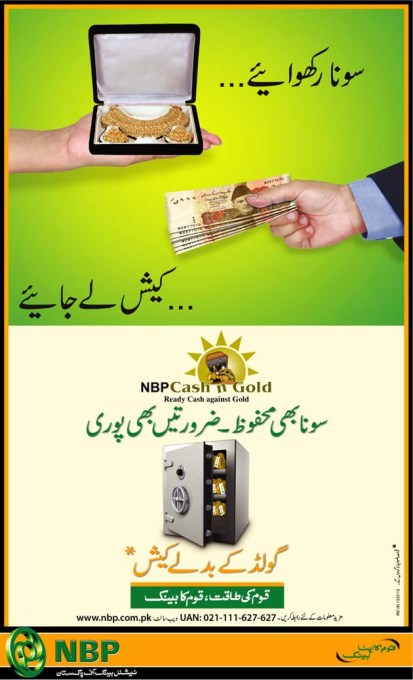 Gold Deposit Scheme of National Bank of Pakistan