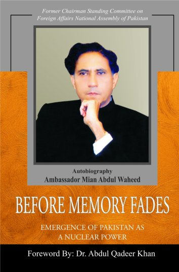 Book_Before Memory Fades, by Mian Abdul Waheed
