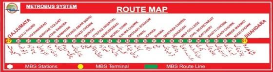 Metro Bus Lahore_Route Map-1
