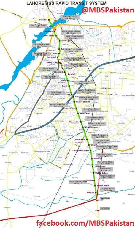 Metro Bus Lahore_Route Map-2