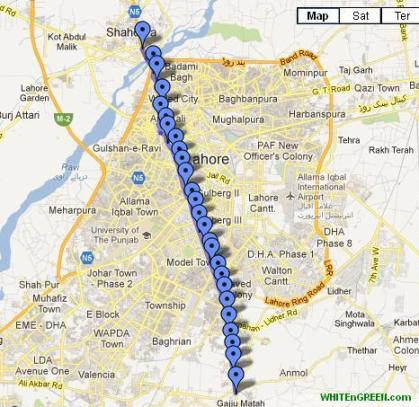 Metro Bus Lahore_Route Map-3