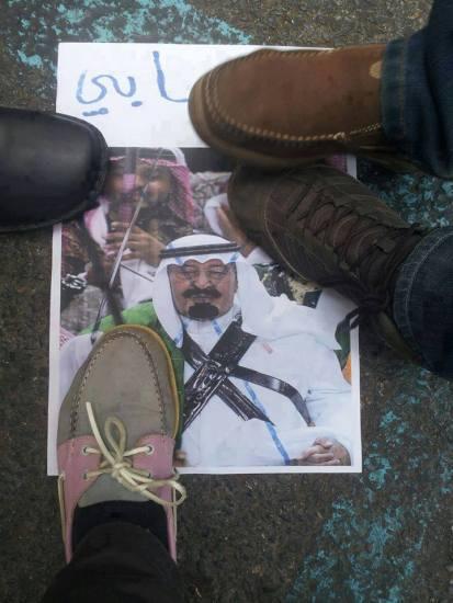 SAUDIA_Pic_Trampling the Saudi King