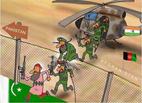 CARTOON_Indian & Afghan Terror in Pakistan