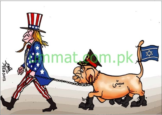 EGYPT_CARTOON_Gen Sisi is an American Dog