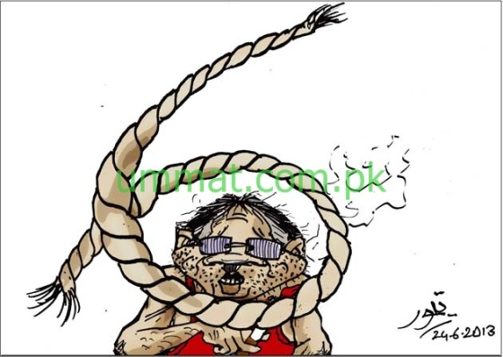 CARTOON_Noose tightens around Musharraf's Neck