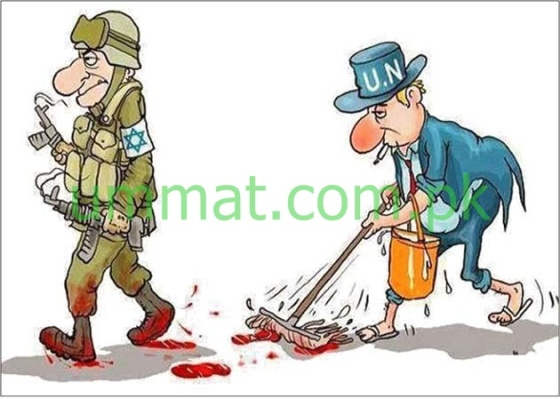 CARTOON_UN white washes Jewish Crimes