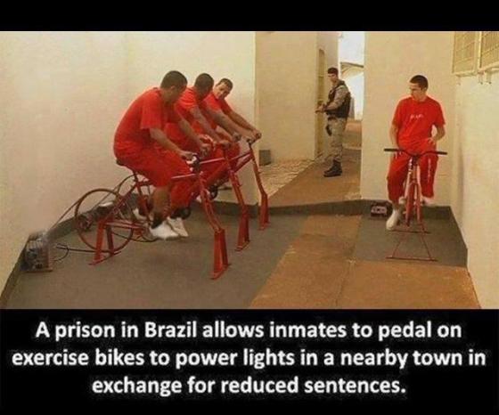 Prisoners in Brazil produce Electricity