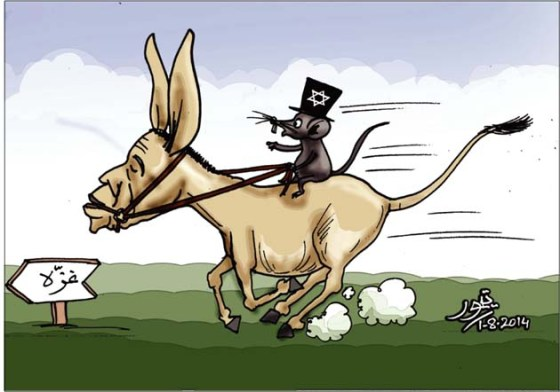 CARTOON_Israel rides Obama & USA