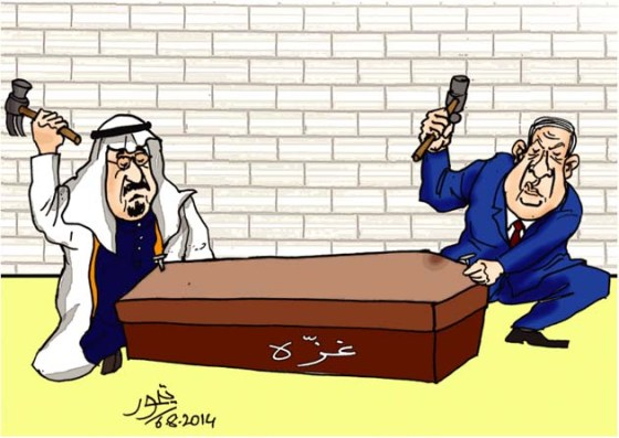 CARTOON_Saudis & Netenyahoo prepare Gaza Coffin